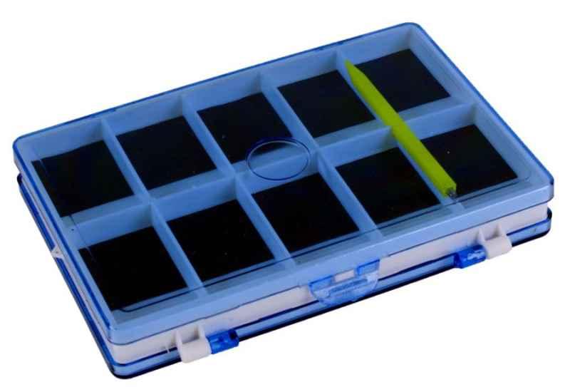 Obojstranná magnetická krabička na háčiky 12,5 x 9cm