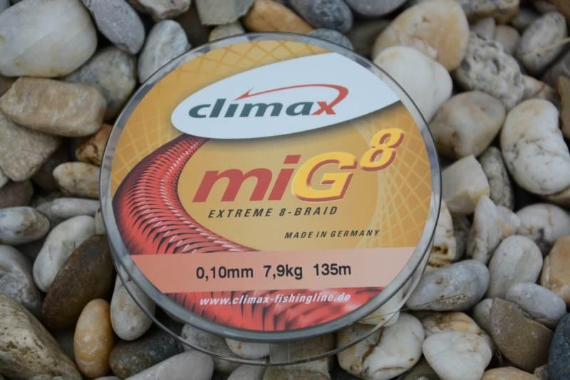 Climax šnúra 135m - miG 8 Braid Olive SB 135m 0,08mm / 6,5kg