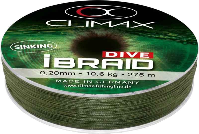 Potápavá šnúra Climax iBraid DIVE olivová 135m Priemer: 0,12mm Nosnosť: 5,0kg