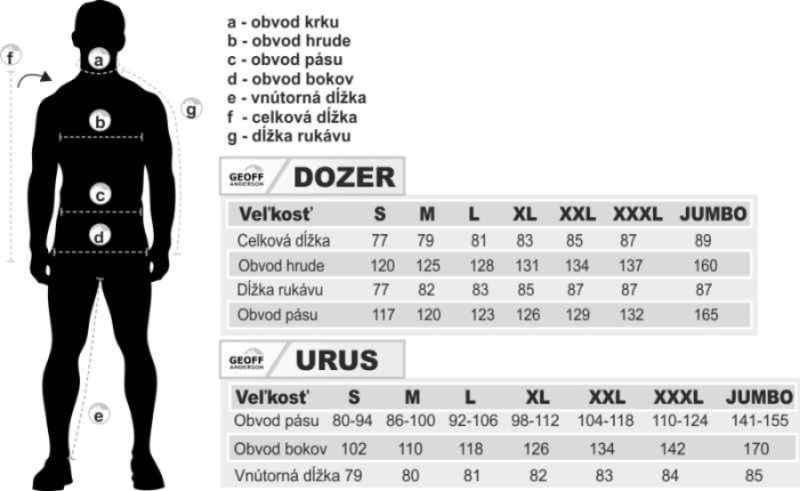 AKCIA Geoff Anderson - DOZER 6 + URUS 6 čierna Veľkosť XXXL