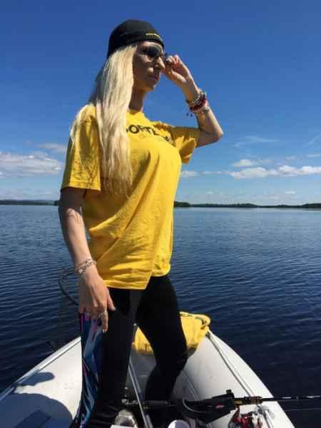 SPORTEX T-Shirt Tričko s veľkým logom - žlté Veľkosť: XL