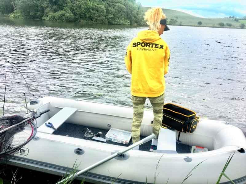 SPORTEX Mikina s kapucňou - žltá Veľkosť: M