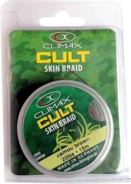 CLIMAX šnúra 15m - SKIN Braid Camou Green - 20lbs / 9,1kg / 15m