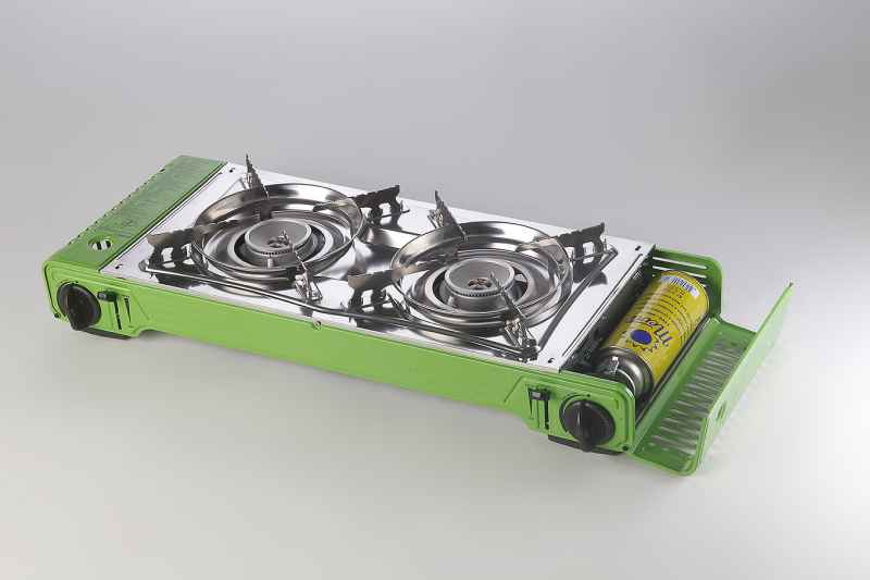 Rybársky dvojplatničkový kempingový varič THUNDER 2