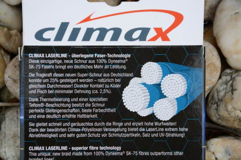 Climax šnúra 135m - Laser Braid line Olive SB 6 vlákien 135m 0,10mm / 10kg